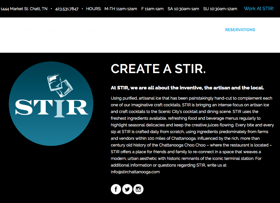 STIR Chattanooga Llc